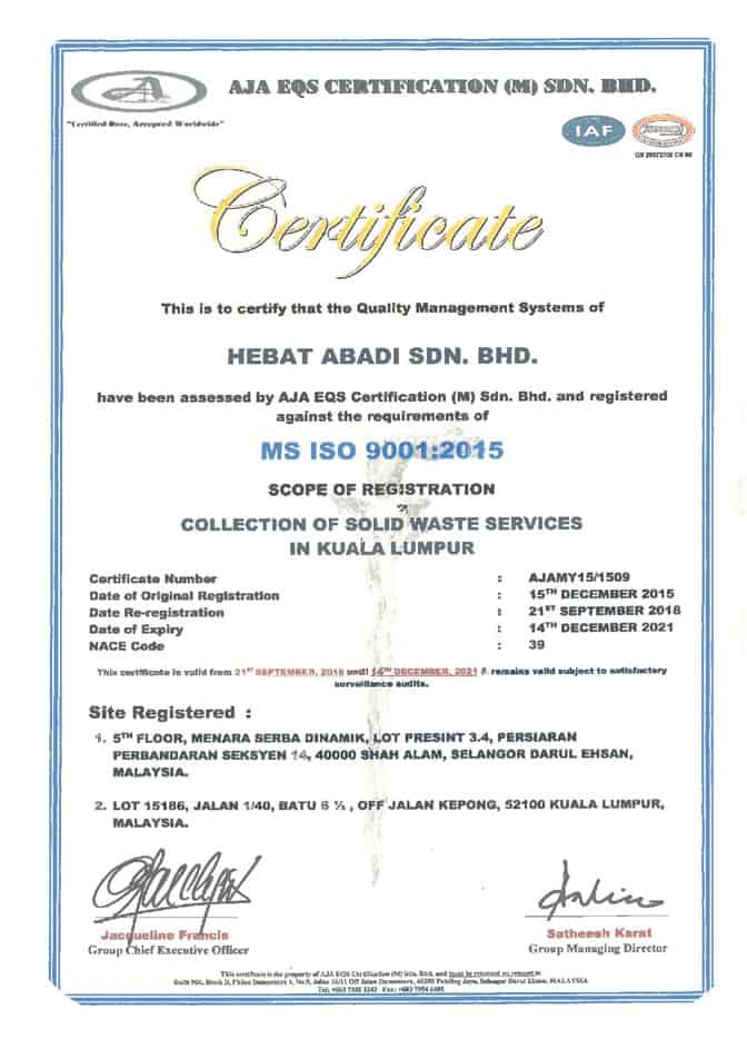 MS ISO 9001:2015